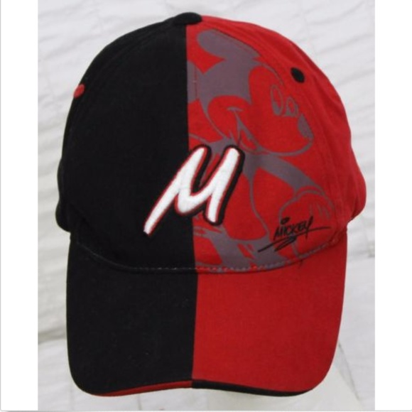 368482fb5d5 Disney Other - Disney World Mickey Mouse Hat Signature 2-Tone Red